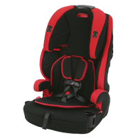 Combo, short for combination car seats, sometimes referred to as harnessed boosters. like a convertible, does double duty.  It starts out as a forward-facing harness seat then as the child grows it becomes a booster seat.  Combination seats have one belt path and are generally able to accommodate children in harness mode up to 50 or 65 pounds, and up to  110 in booster mode.