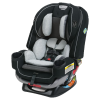 All in one's are a relativly new class of seats in the market.  These seats go by many different nemes: all-in-ones, four-in-ones, three-in ones, foevers etc.  Thse seats combine the convertible car seat with the comvonation car seat.  This means that one seat is capble of rear-facing, forward-facing AND boostering.  While these seats cost a bit more upfront, many parents see the value in being able to purchase just one seat for their child instead of two or even three different seats.  Since these seats essentially do it all, they generally can be used rear facing from 5 to 40 pounds, forward facing with a harness up to 65 pounds and as a belt positioning booster seat until 110 pounds.